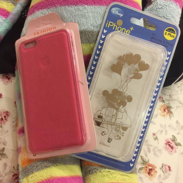 Iphone6+ 手機殼 桃紅 金屬邊框 米妮 米奇