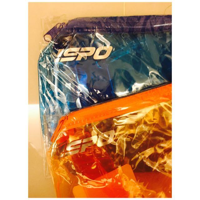 ISPO圓筒收納防水袋-藍/橘