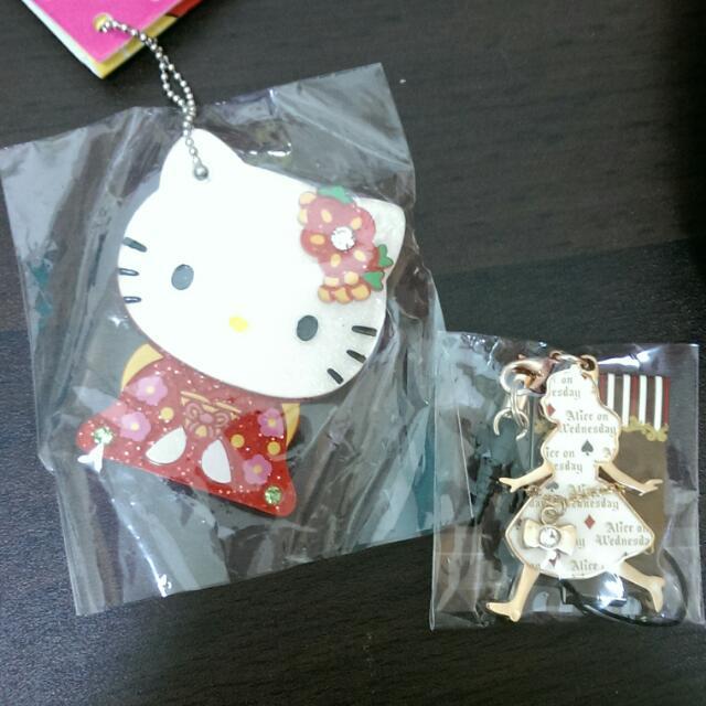 日本Kitty迪士尼愛麗絲吊飾