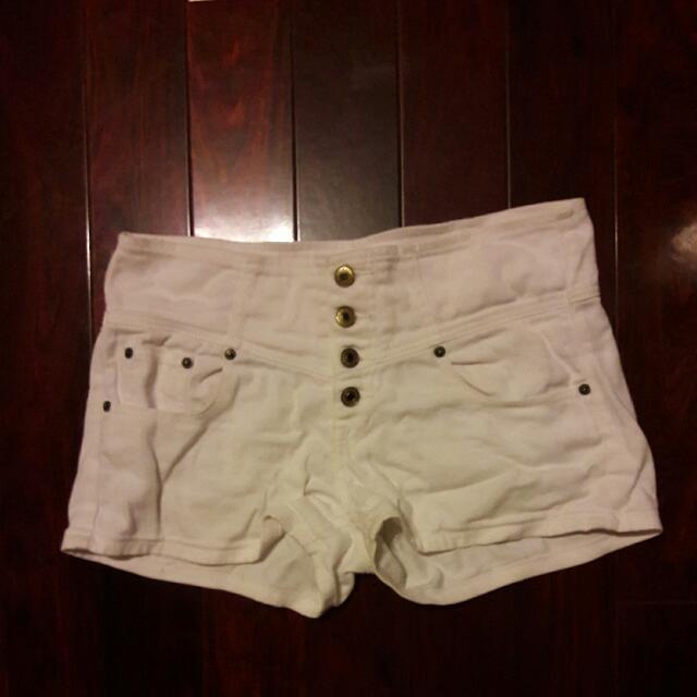 排扣短褲L號