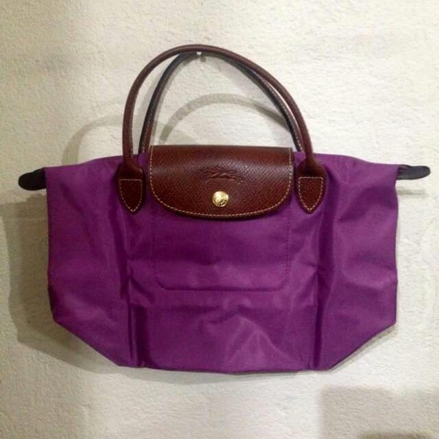 Longchamp S短把 薰衣紫