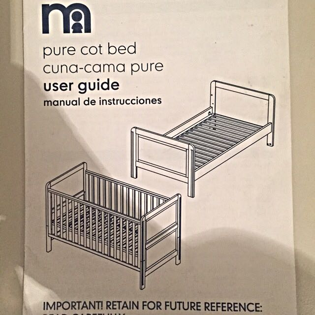 Mothercare Cuna-Cama Pure Cot/Bed