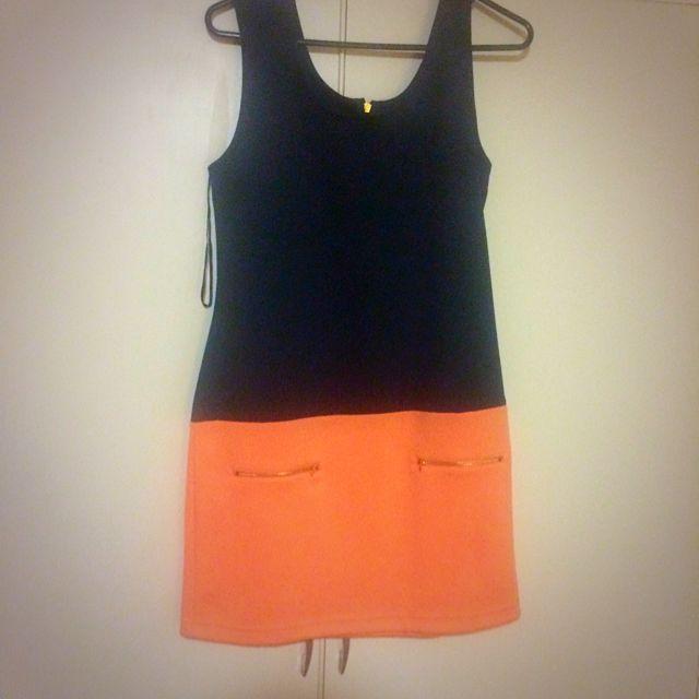 Navy & Orange Dress (size 12)