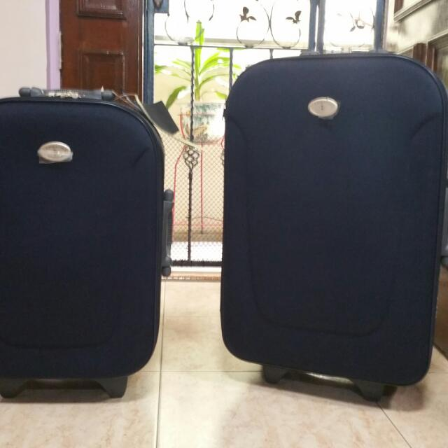 New U S Polo Association Luggage 1 Piece Small Cabin Size Bag Pictured Left