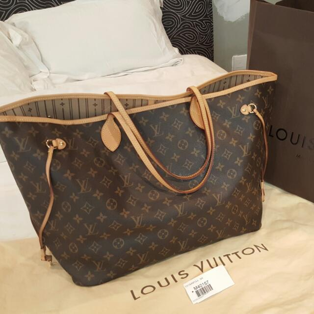 4798bce5750e Preloved Authentic LV Neverfull GM