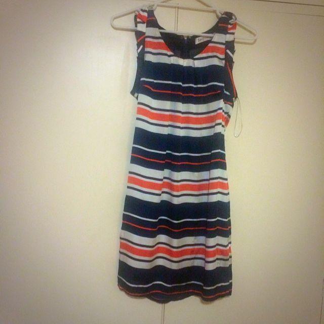 Sunny girl Size 10 Satin Striped Dress