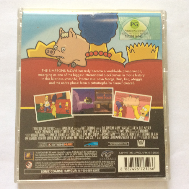 The Simpsons Movie Cartoon Animation Vcd Everything Else On Carousell
