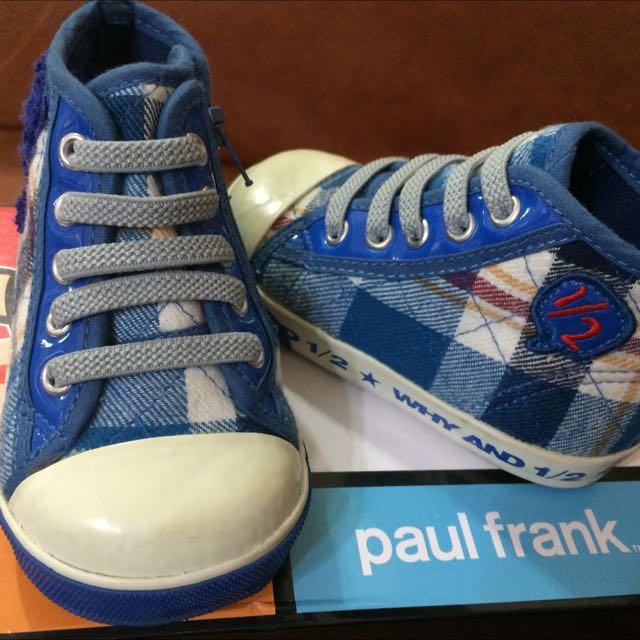 WAY AND 2/1 普普熊 休閒帆布鞋 藍色 20號