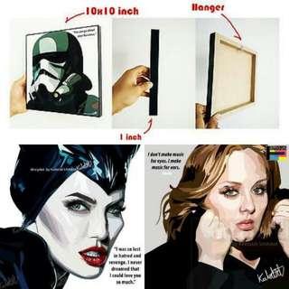 Adele & Maleficent Art Pop Frame.