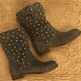(降價)專櫃義大利進口FIORUCCI純麂皮靴
