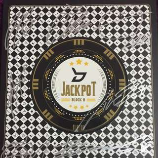 Autographed Block B Jackpot Limited Edition (P.O card) + Gift