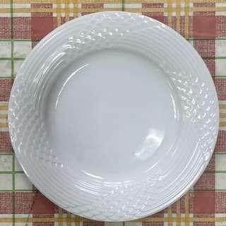 高級西餐廳白色瓷盤9個(待面交)