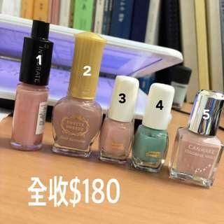 日系品牌指甲油$180