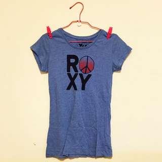 (含運)👻二手百貨專櫃購入 ROXY 英文字母長版短袖T恤 貓咪曬月亮 ZARA TOPSHOP NUDE MOONCAT MANGO H&M ASOS