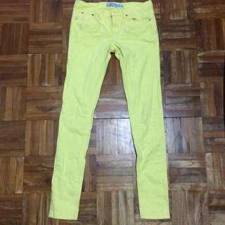 檸檬黃牛仔長褲🍋
