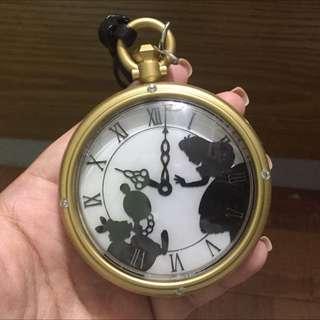 愛麗絲懷錶掛飾️Alice In Wonderland-日本迪士尼購入