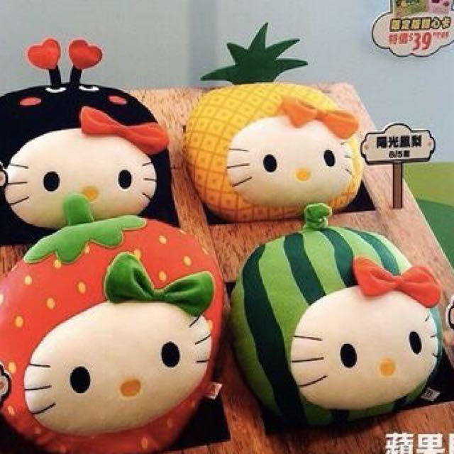 2015 麥當勞 Hello Kitty 抱枕 陽光鳳梨