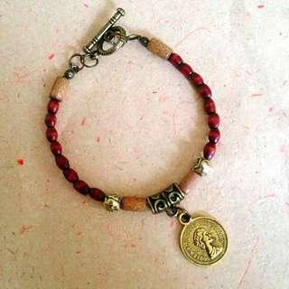 Thick Wood Bracelet / Gelang Kayu Unik