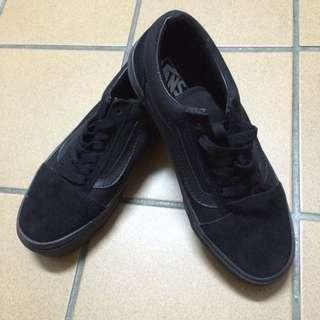 vans 麂皮 全黑 基本款 (22.5-23cm)