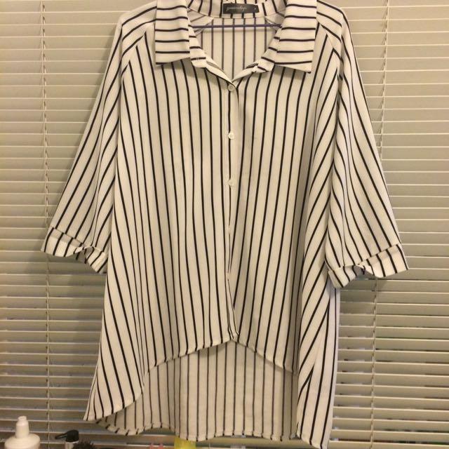 2手 Queen Shop購入 直條紋襯衫