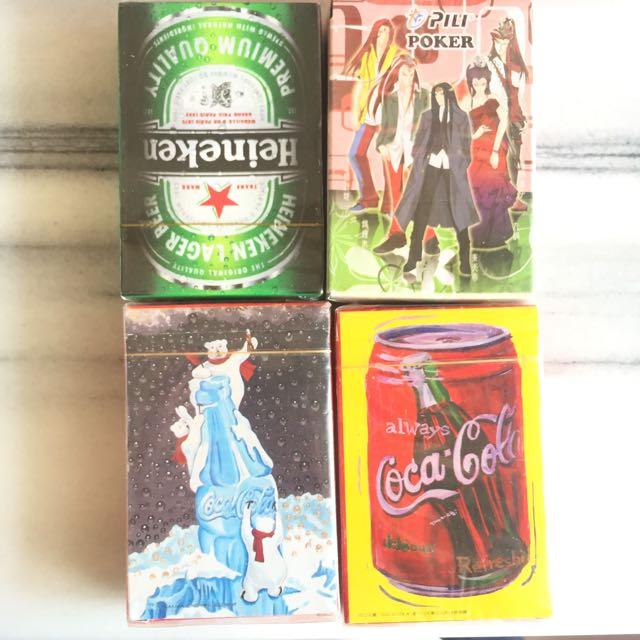 桌遊、樸克牌、可口可樂、海尼根、霹靂