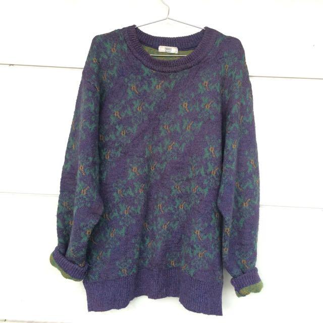 ᴠɪɴᴛᴀɢᴇ紫色毛上衣🍬免運