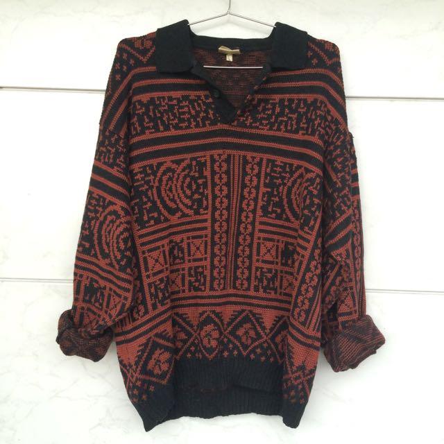 ᴠɪɴᴛᴀɢᴇ黑領毛衣襯衫🍱