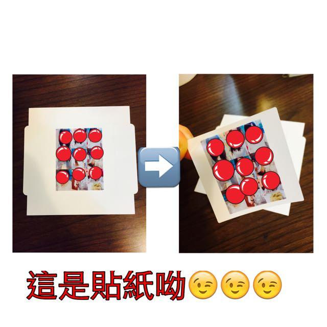代印照片服務。正方形 5.4cm*5.4cm (此商品為貼紙)