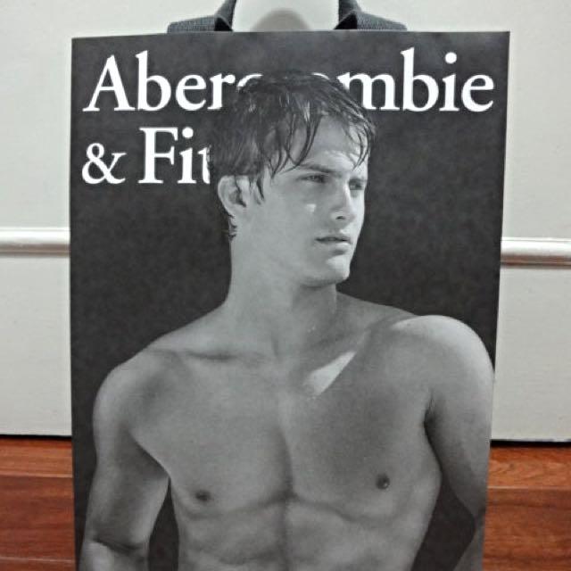 Abercrombie & Fitch (A&F) 正版厚手提紙袋