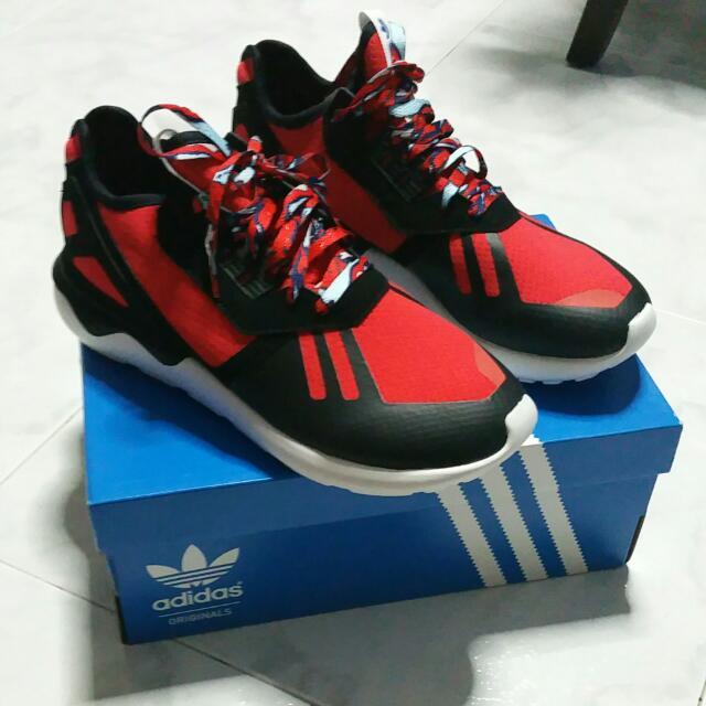 hot sale online 84532 11996 ADIDAS TUBULAR RUNNER RED BLACK