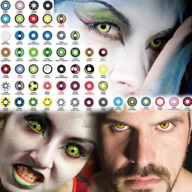 colored halloween contacts for halloween costume and dress up or clubbing health beauty on carousell