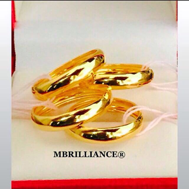 Plain concave Design gold ring 22k 916 Yellow Gold Ring Luxury