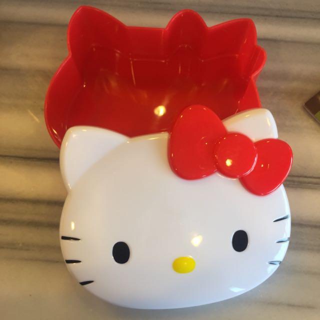 Hello kitty Q臉造型收納盒