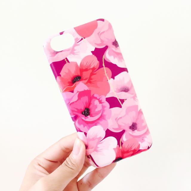 🌺iPhone 6/6s 手機殼 花朵 粉紅 韓國 全新