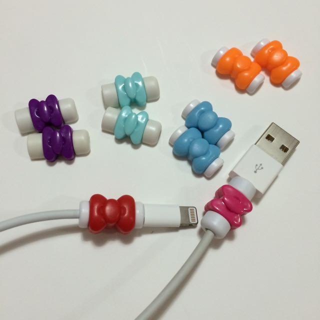 全新iPhone 傳輸線 充電線 蝴蝶結 保護套 護線套