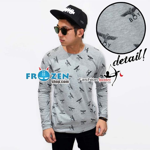 Long Sleeve Tee Boy London Pattern Grey