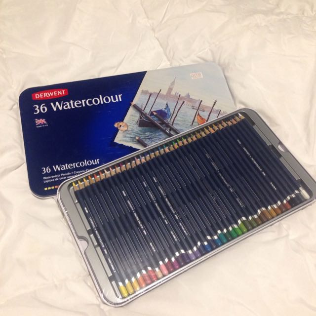 New 36 Derwent Watercolour Pencils