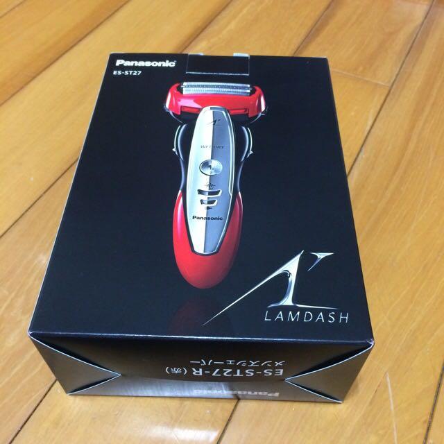 【國際牌Panasonic】全新!只有開來看!三刀頭水洗電動刮鬍刀 ES-ST27(紅)