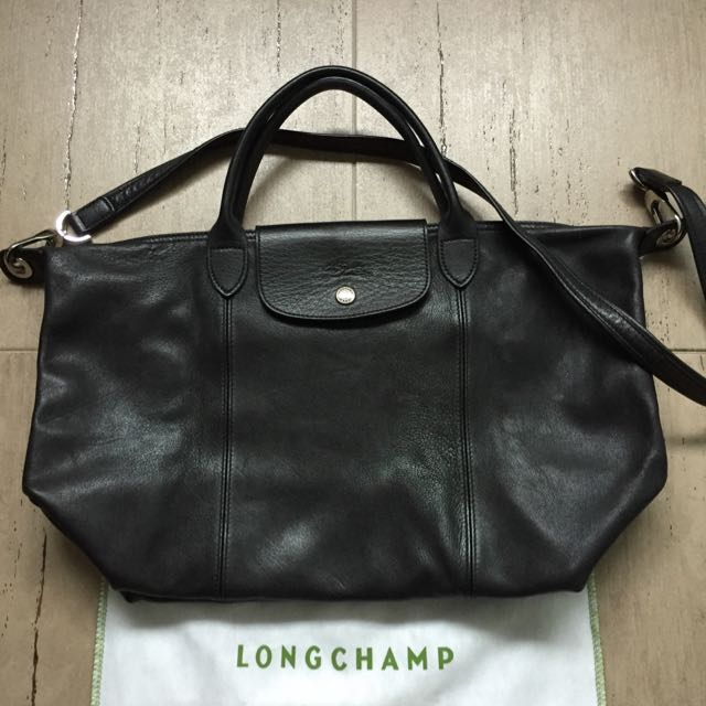 Pre Loved Authentic Longchamp Le Pliage Cuir (Leather), Luxury on ... f4656e4b53