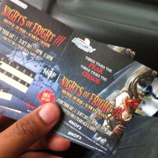 Nights of Frights 3 Ticket