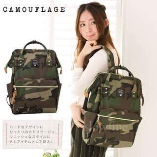(現貨+預購)日本同步原廠原單超大容量ANELLO 媽媽包 後背包 *迷彩
