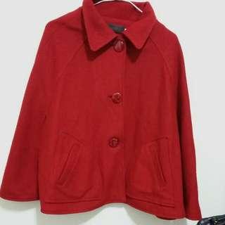 (二手)深紅色披肩