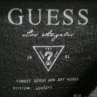 二手 T恤 男裝 長袖 GUESS 灰色 M號 品牌 名牌