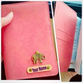 #曼谷連線🇹🇭 客製 手工。 護照皮套。可加名字&Logo~!