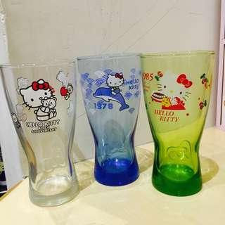 Hello Kitty 玻璃曲線杯