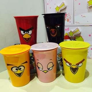 憤怒鳥 雙層陶瓷馬克杯 附杯蓋