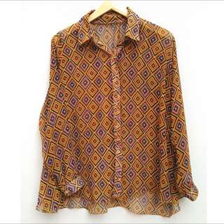 Tribal Pattern Long Sleeve Shirt
