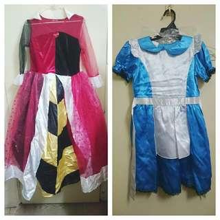正版迪士尼愛麗絲夢遊仙境Alice洋裝/紅心皇后套裝萬聖節