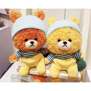 日本正版 雙胞胎小熊<TINY TWIN BEARS>  睡衣睡帽款《 2款任選 》