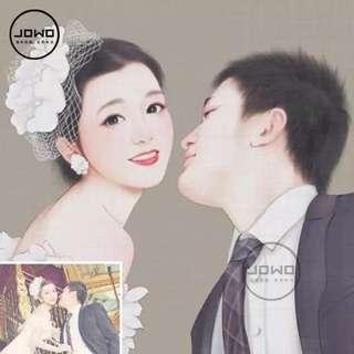 Customized Couple Cartoon Portrait